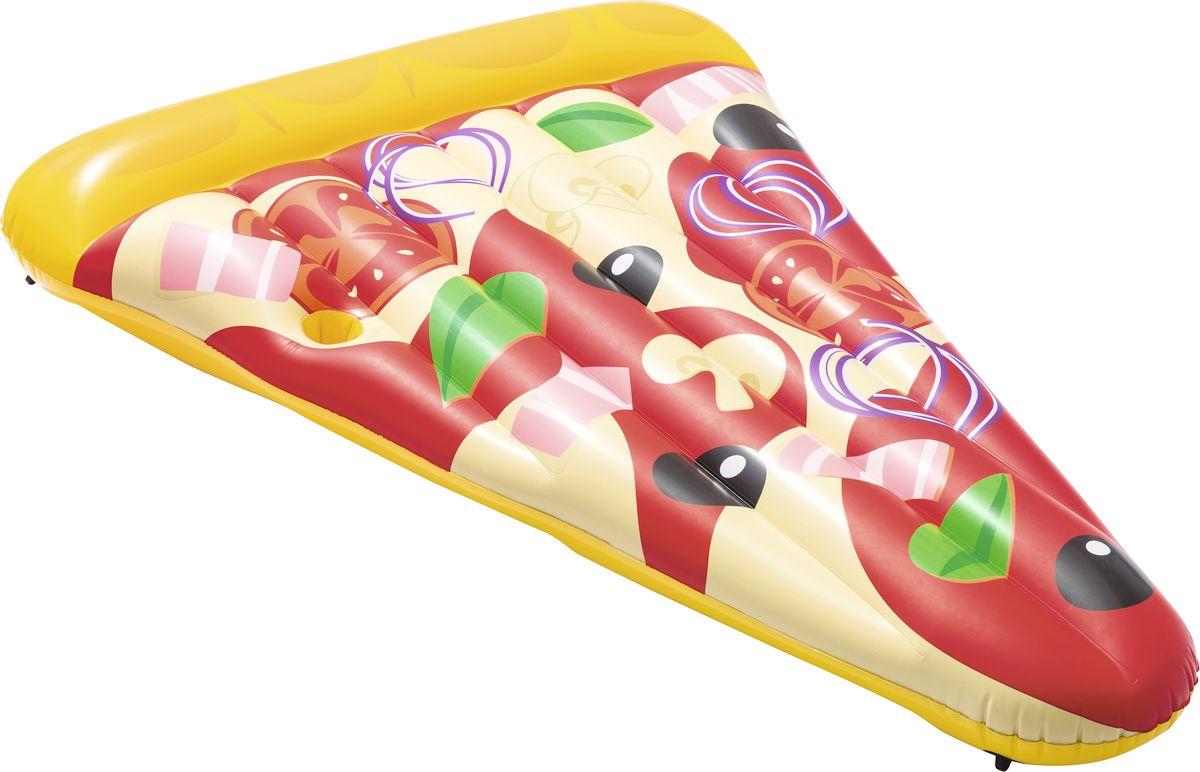 Bestway Матрас надувной Пицца, 188 х 130 см44038Надувной матрас Bestway Пицца выполнен из прочного винила ярких цветов. На таком матрасе вы сможете не только плавать, но и загорать на пляже или во дворе загородного дома. Изделие мягкой конструкции с рельефной поверхностью, благодаря чему лежать на нем будет особенно удобно.Встроенные кольца позволяют соединить его с другими матрасами, образуя целую пиццу не нескольких матрасов.Такой матрас станет незаменимым атрибутом летнего отдыха.В комплект входит специальная заплата для ремонта изделия в случае прокола. Способы ухода: чистка производится с помощью мягкой губки, естественная сушка.Условия хранения: в сухом помещении, при комнатной температуре.
