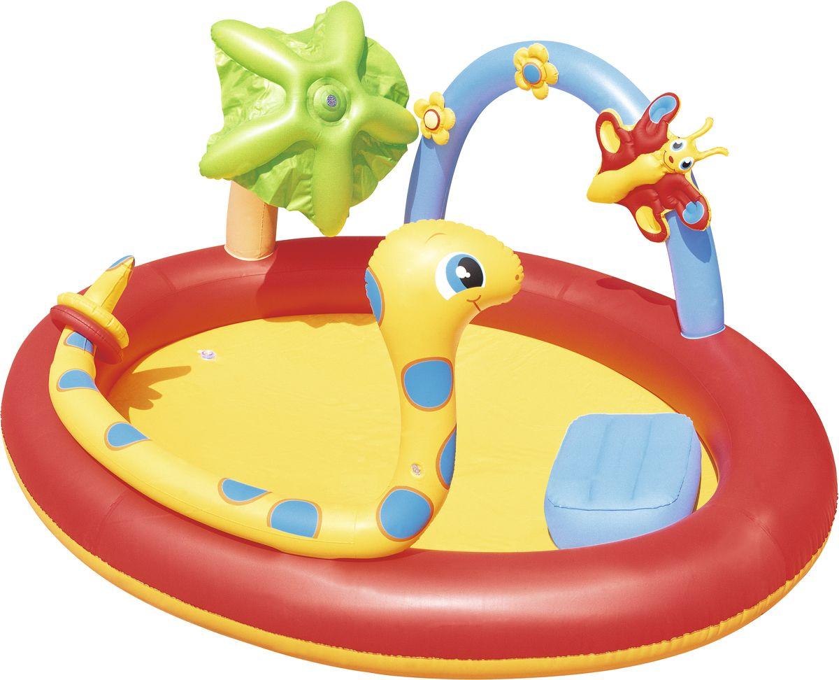 Bestway Бассейн надувной с брызгалкой и кольцами