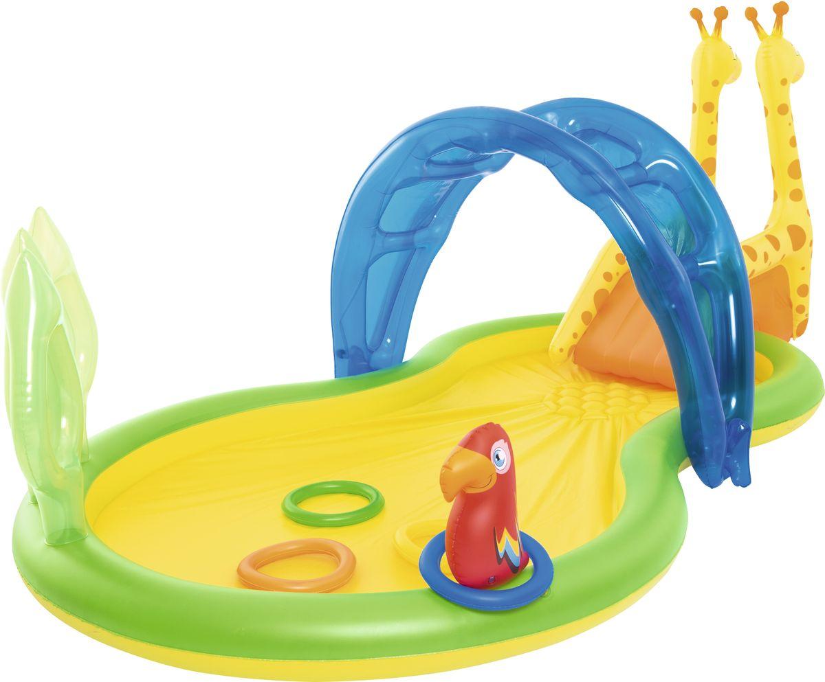 Bestway Бассейн надувной Зоопарк с брызгалкой и аксессуарами