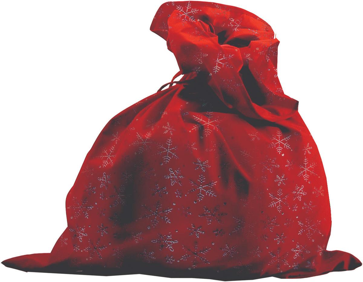 Батик Костюм карнавальный для мальчика Мешок Деда Мороза цвет красный размер 52-56