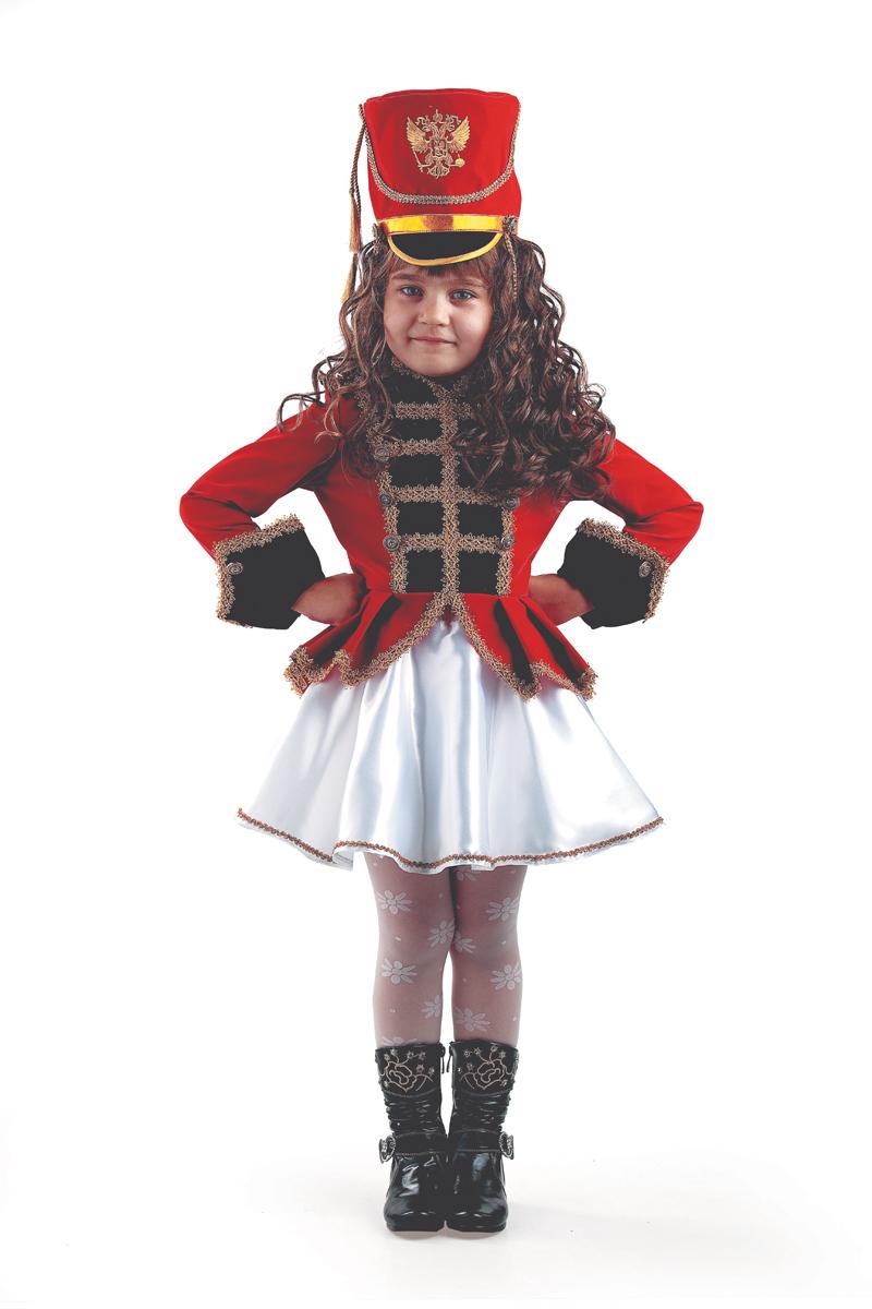 Батик Костюм карнавальный для девочки Мажоретка размер 28 батик костюм карнавальный для девочки королева мушкетеров размер 34