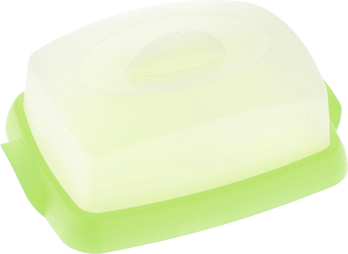 Масленка Мартика Таира, цвет: салатовый. С62С62Масленка Мартика Таира используется для хранения и подачи сливочного масла. Плотно закрывающаяся крышка позволяет продукту дольше сохранять свежесть и вкус, а также предотвращает впитывание маслом посторонних запахов. Масленка от Мартики рассчитана на хранение стандартного двухсотграммового брикета масла. Изделие выполнено с соблюдением необходимых требований к качеству и безопасности, включая санитарные, которые предъявляются к пластиковой продукции. Удобно в обращении. Имеет яркие цвета, привлекательный современный дизайн и высокий запас прочности. Материалы, используемые при производстве, отвечают всем необходимым санитарным нормам и стандартам качества и разрешены для контакта с пищевыми продуктами.Размер: 16 х 12 х 6,5 см.
