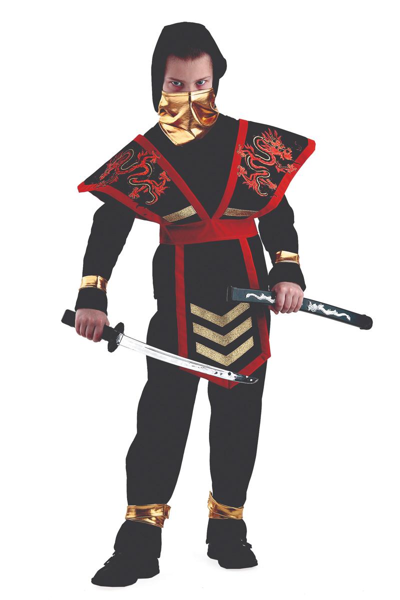 Батик Костюм карнавальный для мальчика Мастер Ниндзя цвет красный размер 38 костюм зловещего шута детский 38 40