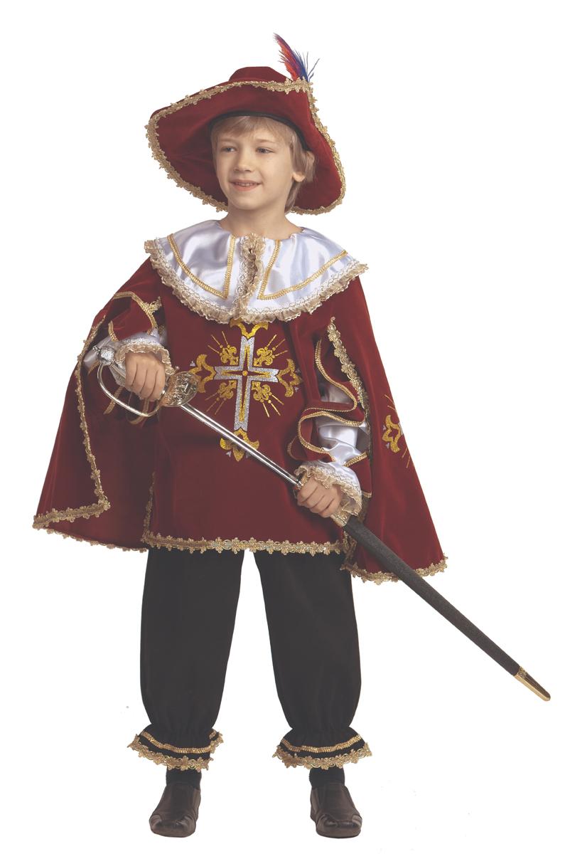Батик Костюм карнавальный для мальчика Мушкетер цвет бордовый размер 38 костюм для мальчика m&d цвет бордовый черный белый hwi170011 8 размер 98