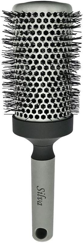Clarette Щетка для волос круглая большая, цвет: серый. SB 488 furminator brush comb pet deshedding tool for medium dog cat