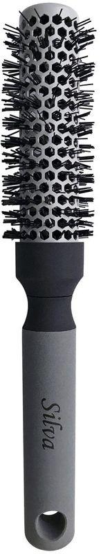 Clarette Щетка для волос круглая малая, цвет: серый. SB 486SB 486_серыйКоллекция Silva -это расчески, щетки и брашинги для всех типов волос. Рекомендуется для профессионалов.SЩетка для волос круглая малая. Воздухопроницаемый алюминевый корпус обеспечивает быструю укладку волос любой длины. Специальная термостойкая щетина легко накручивает волосы на щетку. Помогает создать локоны.