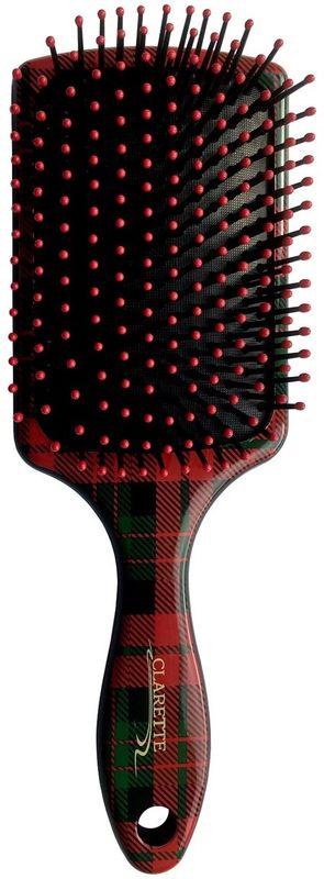Clarette Щетка для волос квадратная с пластиковыми зубьями. CFB 687CFB 687;CFB 687Коллекция Сlarette Шотландская Клетка- представляет щетки и расчески для волос, классической расцветки на все случаи жизни, которая уже давно и основательно вошла в моду. Такая щетка для волос или расческа может стать как дополнением общего клетчатого образа, так и акцентом для нейтрального варианта. Пластиковые зубья с массажными шариками обеспечивают массаж головы , стимулируя рост волос.