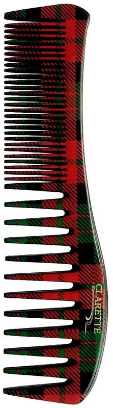 Clarette Расческа для волос. CFB 691CFB 691;CFB 691Коллекция Сlarette Шотландская Клетка представляет щетки и расчески для волос, классической расцветки на все случаи жизни, которая уже давно и основательно вошла в моду. Такая щетка для волос или расческа может стать как дополнением общего клетчатого образа, так и акцентом для нейтрального варианта. Форма расчески позволяет легко и удобно расчесывает даже густы волосы. Подходит для ежедневного применения.