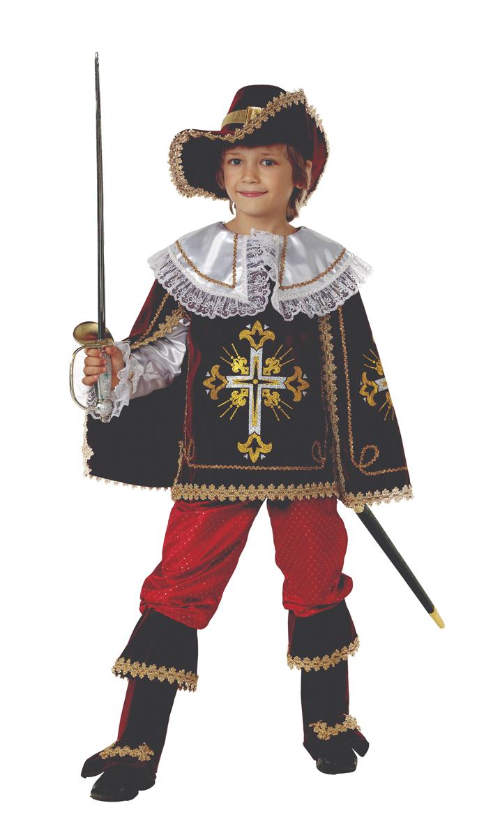 Батик Костюм карнавальный для мальчика Мушкетер короля цвет бордовый размер 40