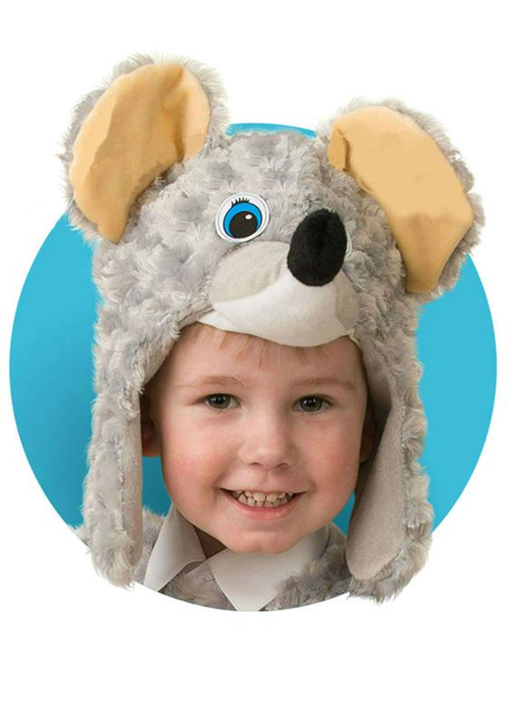 Батик Маска карнавальная для мальчика Мышонок размер 50-52