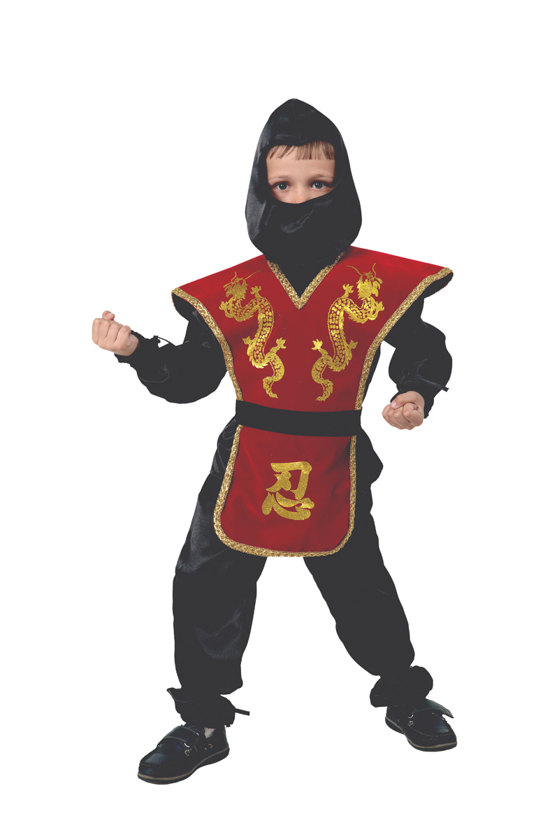 Батик Костюм карнавальный для мальчика Ниндзя цвет красный размер 30 батик костюм карнавальный для мальчика гладиатор размер 30