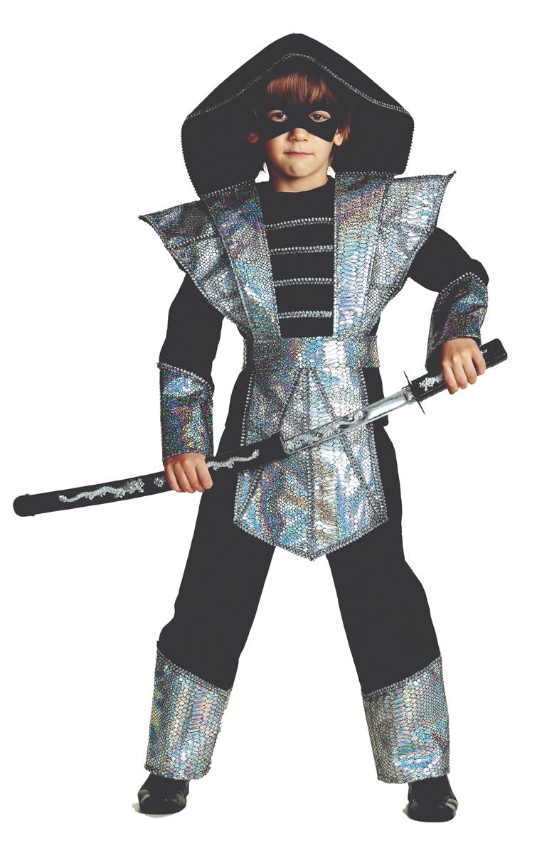 Батик Костюм карнавальный для мальчика Ниндзя цвет серебристый размер 30 костюмы lunev костюм