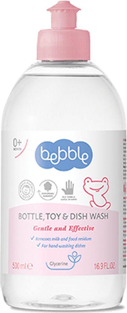 Bebble Средство для мытья детской посуды 500 мл303140Прекрасно удаляет остатки молока и пищи с детской посуды, приборов и других аксессуаров. Содержит биоразлагаемые активные ингредиенты, которые полностью растворимы в воде. Заботящаяся о руках формула, смягчает и увлажняет кожу, благодаря добавленному глицерину. Подходит для мытья детских бутылочек, сосок, пустышек, игрушек- всего, что нуждается в хорошем очищении. Заботься о коже рук! Без красителей!