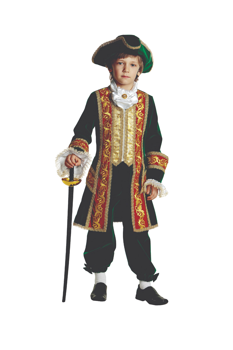 Батик Костюм карнавальный для мальчика Петр I размер 30 карнавальные костюмы batik карнавальный костюм