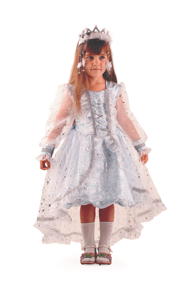 Батик Костюм карнавальный для девочки Снежинка Принцесса размер 36 гребни bizon гребень диадема заколка