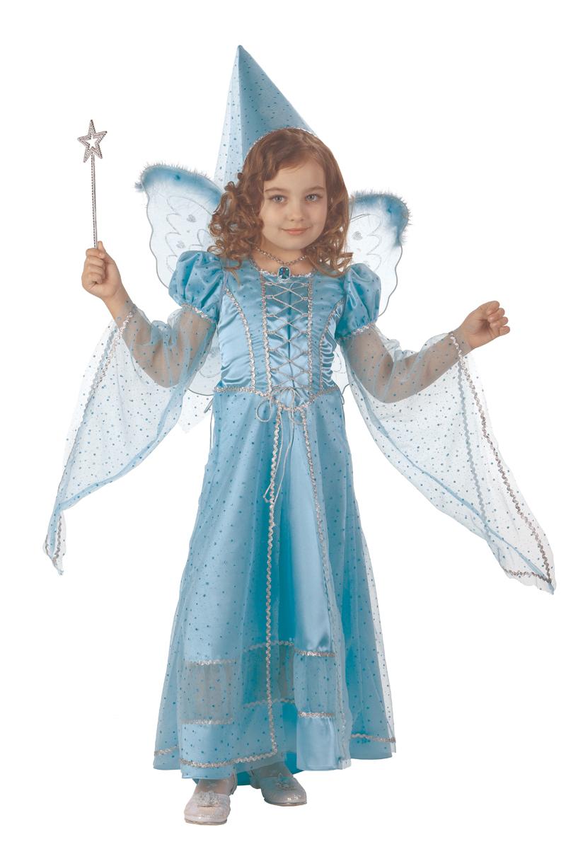 Батик Костюм карнавальный для девочки Фея сказочная цвет голубой размер 30