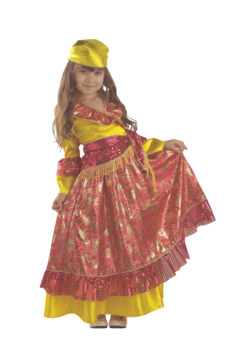 Батик Костюм карнавальный для девочки Цыганка размер 34 костюм озорного клоуна детский 32 34
