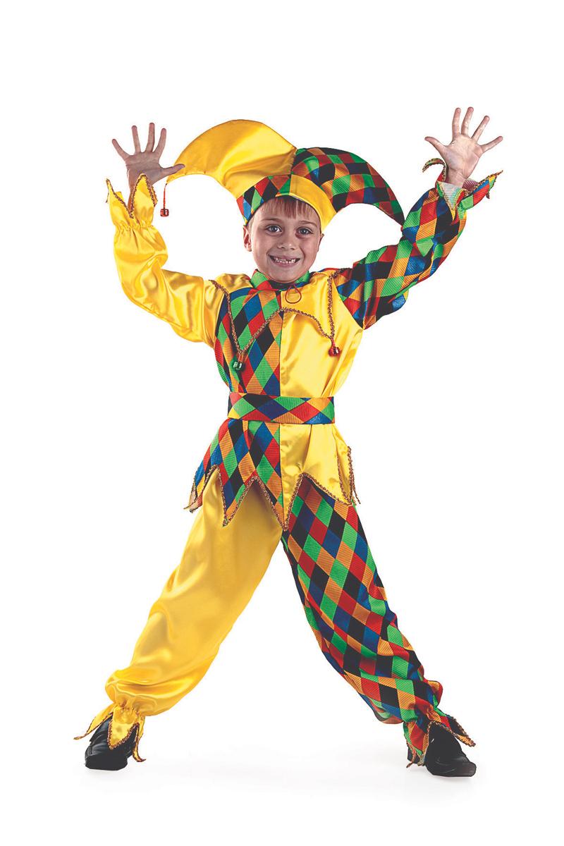 Батик Костюм карнавальный для мальчика Шут Карамболь размер 40 батик костюм карнавальный для мальчика римский воин размер 38