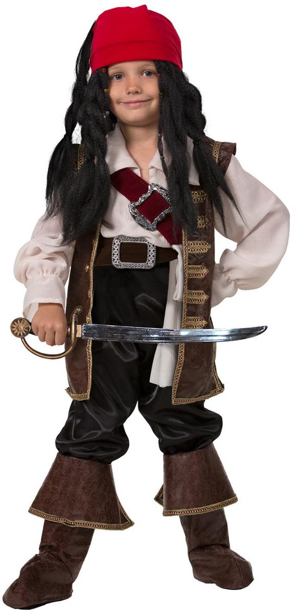 Батик Костюм карнавальный для мальчика Капитан Джек Воробей размер 28