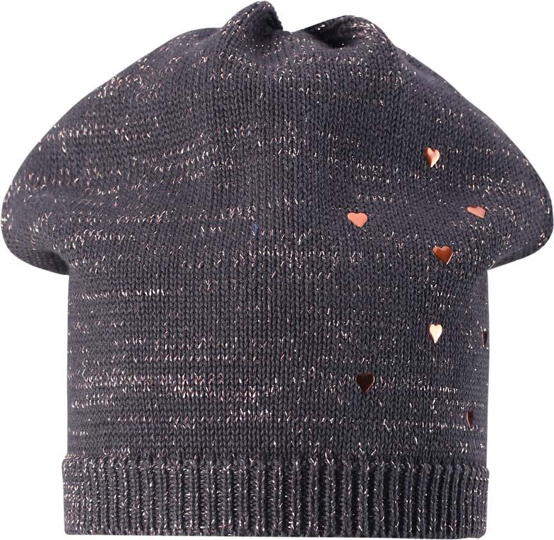 Шапка для девочки Lassie, цвет: серый. 7287329740. Размер 54/56 куртка детская lassie цвет черный серый красный 7217199991 размер 116