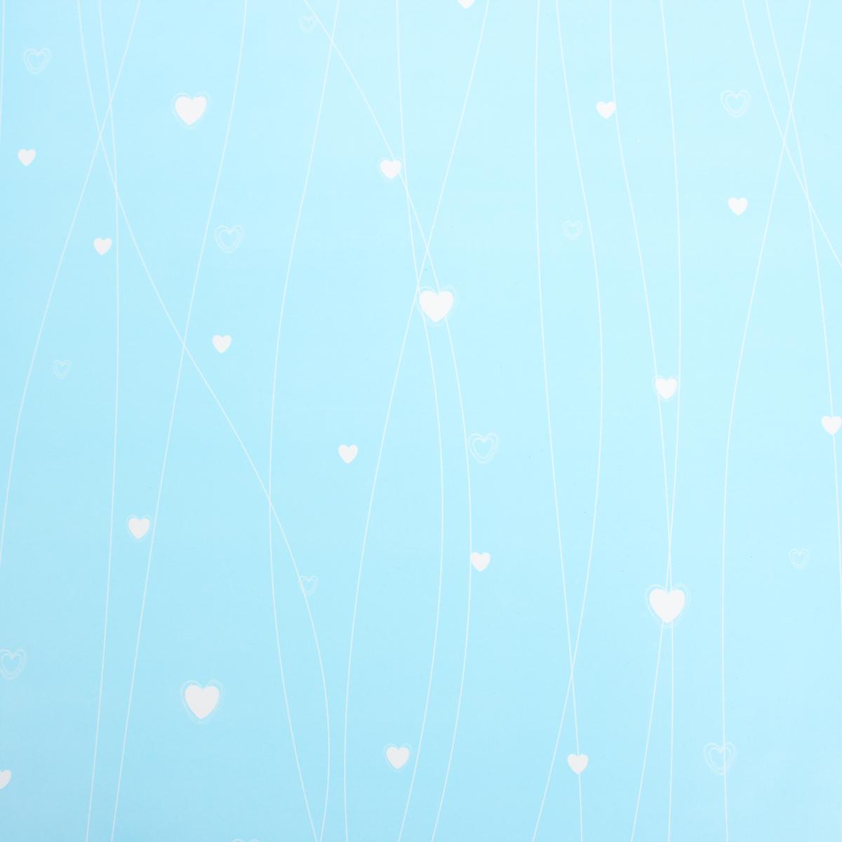 """Любой подарок начинается с упаковки. Что может быть трогательнее и волшебнее, чем ритуал разворачивания полученного презента. И именно оригинальная, со вкусом выбранная упаковка выделит ваш подарок из массы других. Она продемонстрирует самые тёплые чувства к виновнику торжества и создаст сказочную атмосферу праздника. Бумага упаковочная """"Сердечки"""", цвет голубой, 50 см х 70 см — это то, что вы искали."""