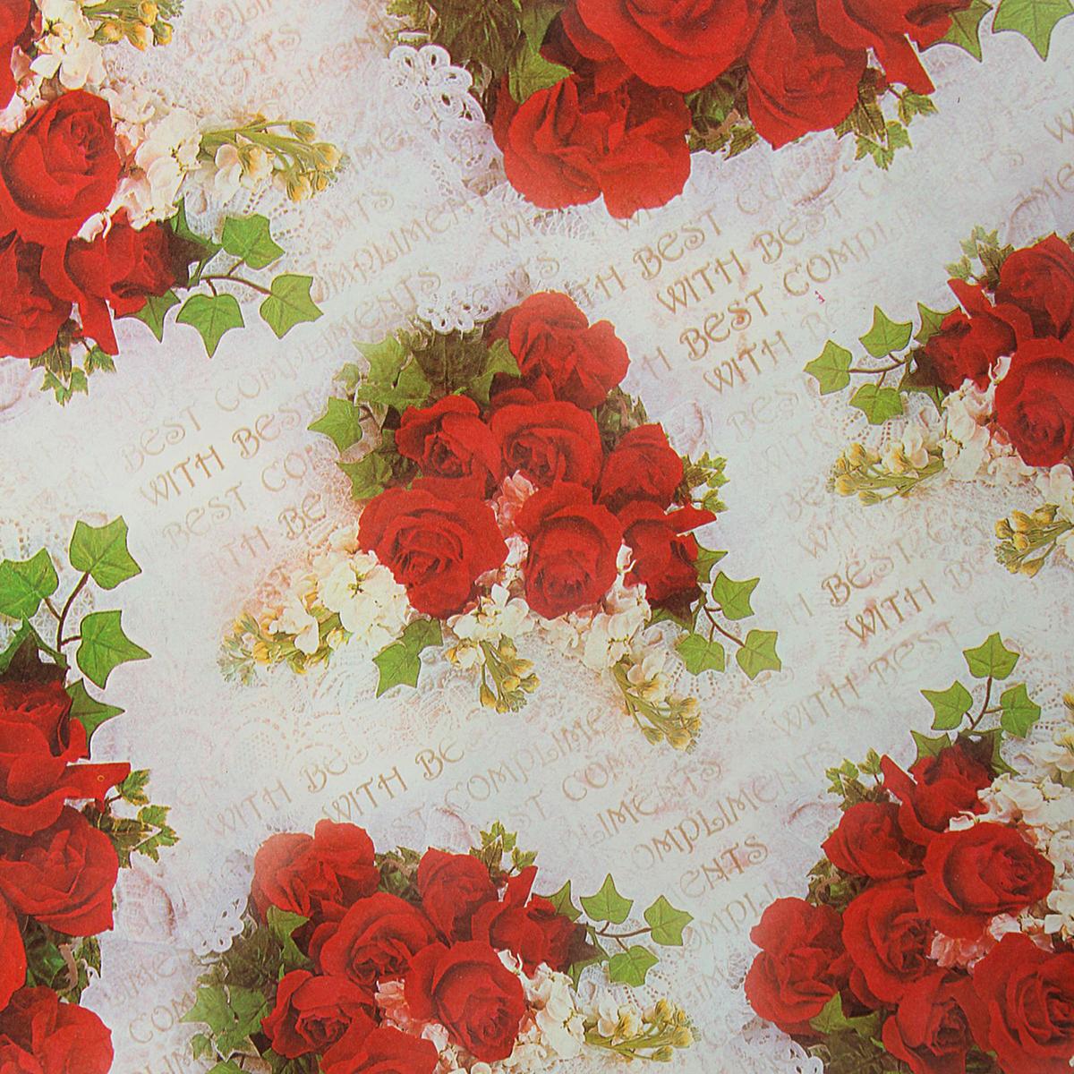 Бумага упаковочная Букет красивых роз, 50 х 70 см. 18820421882042Любой подарок начинается с упаковки. Что может быть трогательнее и волшебнее, чем ритуал разворачивания полученного презента. И именно оригинальная, со вкусом выбранная упаковка выделит ваш подарок из массы других. Она продемонстрирует самые тёплые чувства к виновнику торжества и создаст сказочную атмосферу праздника. Бумага упаковочная Букет красивых роз, 50 х 70 см — это то, что вы искали.
