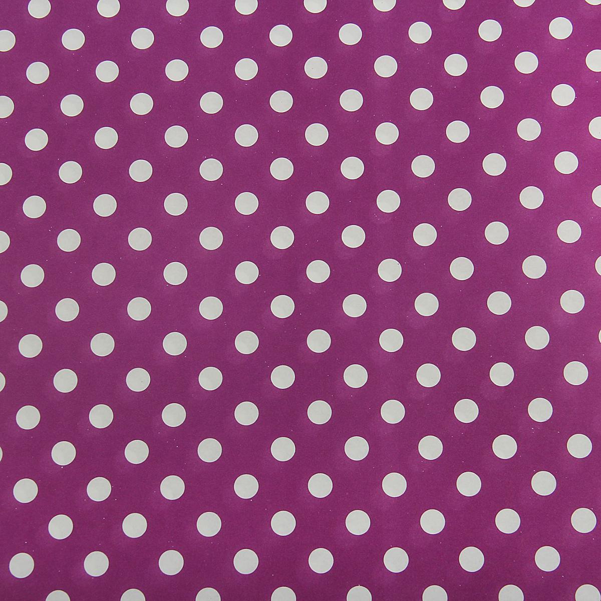 Бумага упаковочная Горох на фиолетовом, 50 х 70 см. 18820361882036Любой подарок начинается с упаковки. Что может быть трогательнее и волшебнее, чем ритуал разворачивания полученного презента. И именно оригинальная, со вкусом выбранная упаковка выделит ваш подарок из массы других. Она продемонстрирует самые тёплые чувства к виновнику торжества и создаст сказочную атмосферу праздника. Бумага упаковочная Горох на фиолетовом, 50 х 70 см — это то, что вы искали.