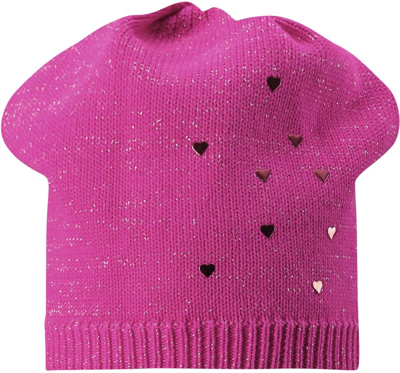Шапка для девочки Lassie, цвет: розовый. 7287324680. Размер 50/52
