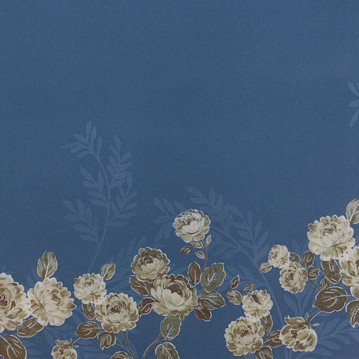 Бумага упаковочная Цветы, цвет: синий, 60 х 60 см. 24900282490028Любой подарок начинается с упаковки. Что может быть трогательнее и волшебнее, чем ритуал разворачивания полученного презента. И именно оригинальная, со вкусом выбранная упаковка выделит ваш подарок из массы других. Она продемонстрирует самые тёплые чувства к виновнику торжества и создаст сказочную атмосферу праздника. Бумага упаковочная Цветы — это то, что вы искали.