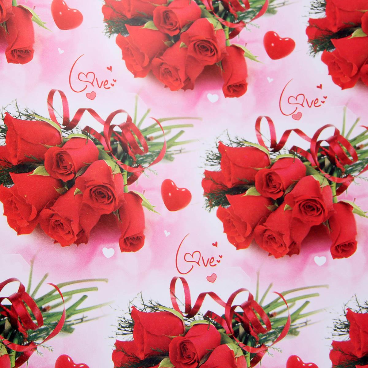 Бумага упаковочная Букет красных роз, 70 х 100 см. 802336802336Любой подарок начинается с упаковки. Что может быть трогательнее и волшебнее, чем ритуал разворачивания полученного презента. И именно оригинальная, со вкусом выбранная упаковка выделит ваш подарок из массы других. Она продемонстрирует самые тёплые чувства к виновнику торжества и создаст сказочную атмосферу праздника. Бумага упаковочная Букет красных роз, 70 х 100 см — это то, что вы искали.