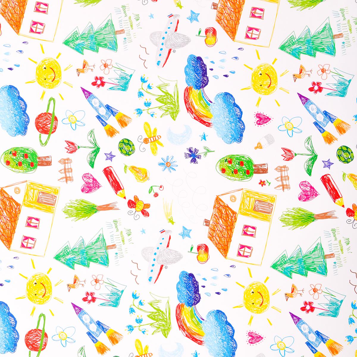 Бумага упаковочная Дарите счастье Детские рисунки, глянцевая, 70 х 100 см. 27714722771472Невозможно представить нашу жизнь без праздников! Мы всегда ждём их и предвкушаем, обдумываем, как проведём памятный день, тщательно выбираем подарки и аксессуары, ведь именно они создают и поддерживают торжественный настрой. — это отличный выбор, который привнесёт атмосферу праздника в ваш дом! Любой подарок начинается с упаковки. Что может быть трогательнее и волшебнее, чем ритуал разворачивания полученного презента. И именно оригинальная, со вкусом выбранная упаковка выделит ваш подарок из массы других. Она продемонстрирует самые тёплые чувства к виновнику торжества и создаст сказочную атмосферу праздника. — это то, что вы искали.