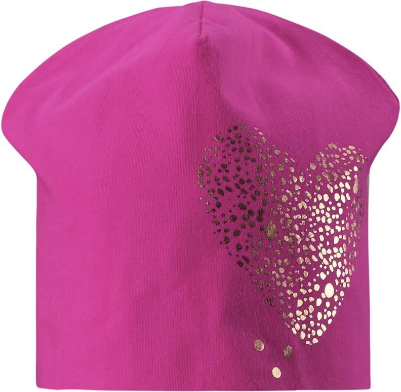 Шапка для девочки Lassie, цвет: розовый. 7287304680. Размер 54/56