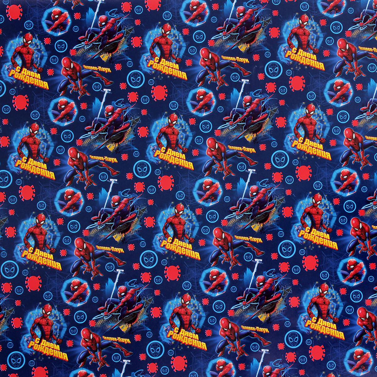Бумага упаковочная Marvel С Днем Рождения! Человек-паук, глянцевая, 70 х 100 см. 23906542390654Дарите счастье с Marvel! Если вы готовите для малыша подарок, о котором он давно мечтал, позаботьтесь о небольшой, но важной детали — красивой упаковке. Подарочная глянцевая бумага заставит сердце чада биться чаще в предвкушении. Ребёнок сразу поймёт, что мамочка с папочкой приготовили для него что-то особенное: ещё пара секунд и произойдёт чудо! Любимые герои сделают праздник веселее! Помните, что улыбка и смех крохи — счастье для каждого родителя!