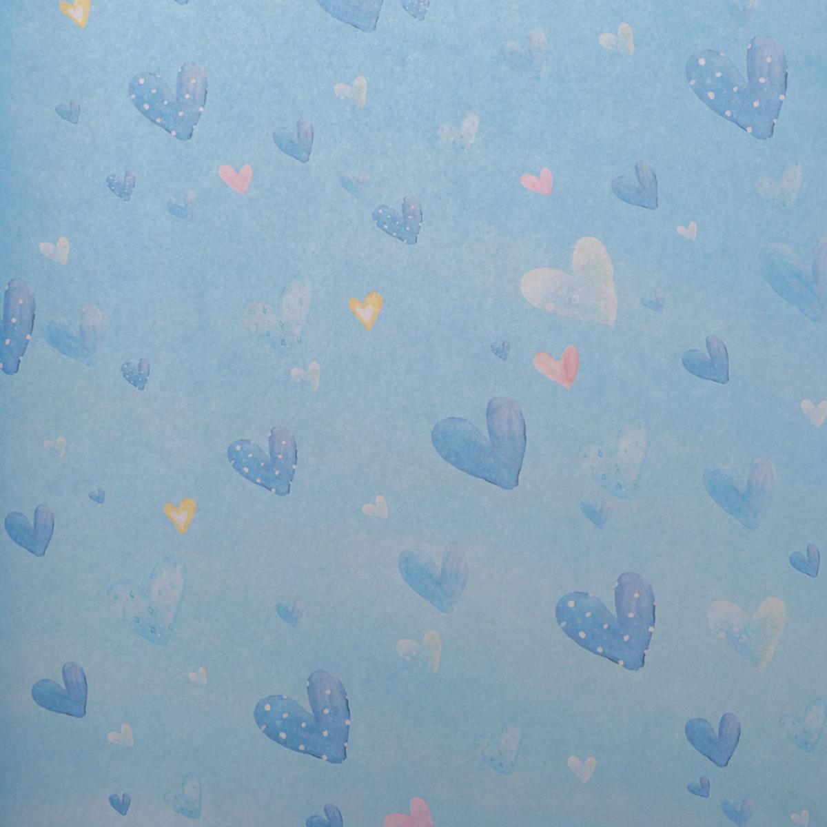 Бумага упаковочная Голубые сердечки, глянцевая, 50 х 70 см, цвет: голубой. 24797242479724Любой подарок начинается с упаковки. Что может быть трогательнее и волшебнее, чем ритуал разворачивания полученного презента. И именно оригинальная, со вкусом выбранная упаковка выделит ваш подарок из массы других. Она продемонстрирует самые тёплые чувства к виновнику торжества и создаст сказочную атмосферу праздника. Бумага упаковочная глянцевая Голубые сердечки — это то, что вы искали.