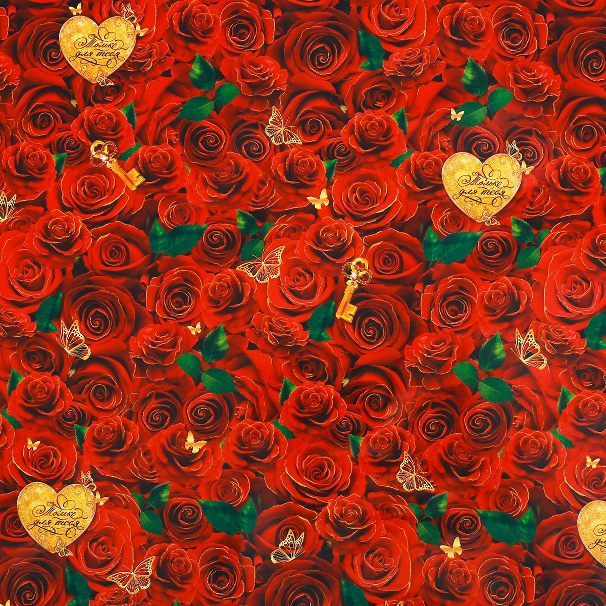 Бумага упаковочная Дарите счастье Розы для тебя, глянцевая, 70 х 100 см. 28620892862089Любой подарок начинается с упаковки. Что может быть трогательнее и волшебнее, чем ритуал разворачивания полученного презента. И именно оригинальная, со вкусом выбранная упаковка выделит ваш подарок из массы других. Она продемонстрирует самые тёплые чувства к виновнику торжества и создаст сказочную атмосферу праздника. Бумага упаковочная глянцевая Розы для тебя 70 х100 см — это то, что вы искали.