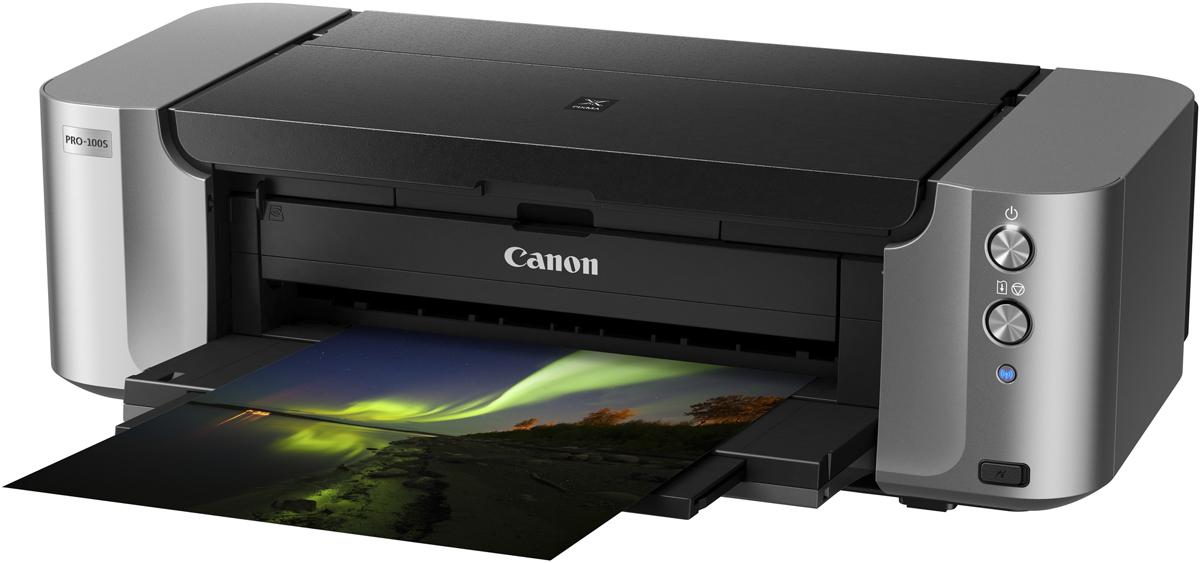 Canon Pixma PRO-100S принтер285463Принтер Canon PIXMA PRO-100S (струйный, A3+, 4800dpi, WiFi, USB2.0, AirPrint)