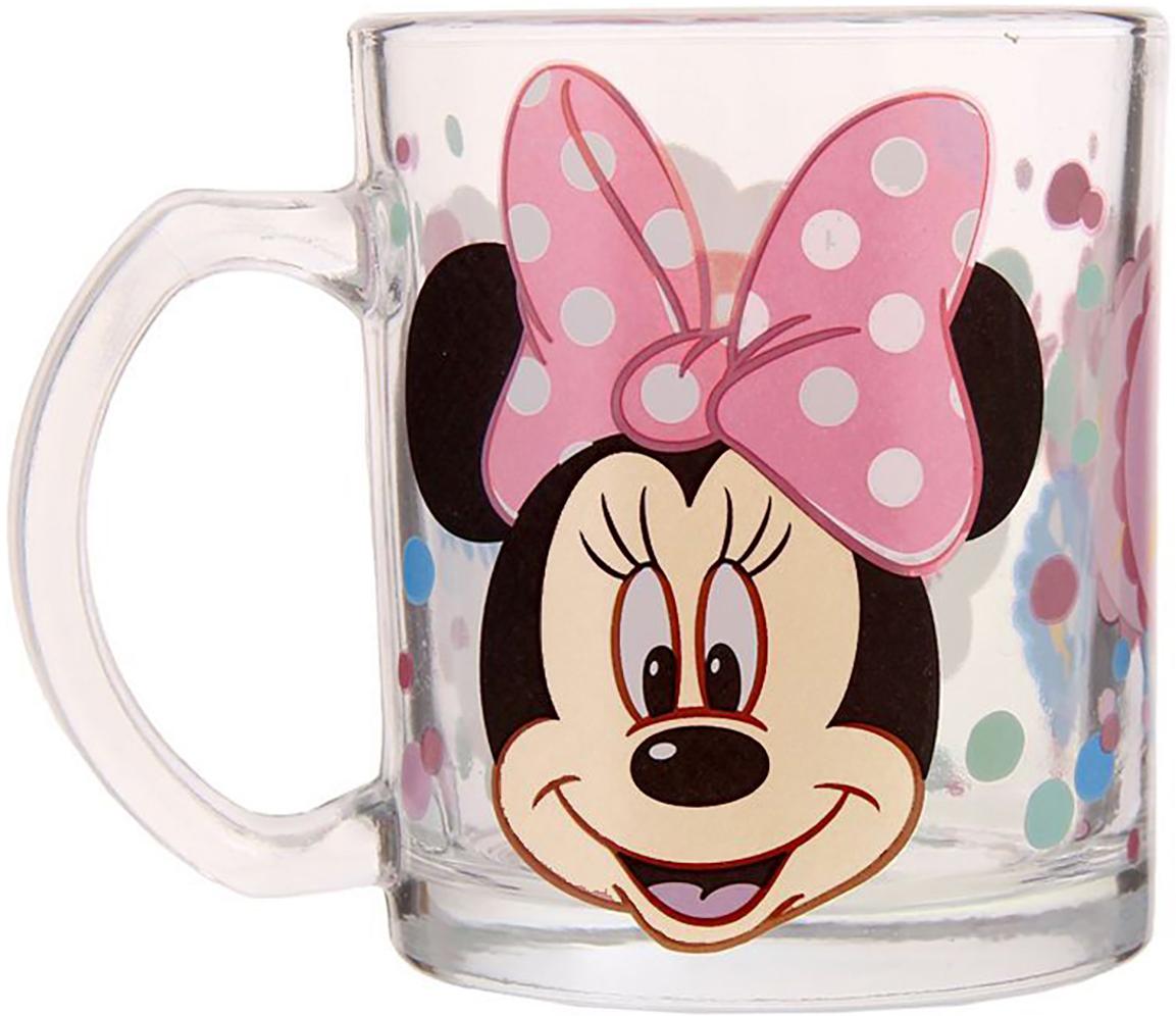 Кружка Disney Вкусняшки и сладости. Минни Маус, 300 мл1195439Кружка с любимыми героями обязательно порадует малыша! Она яркая и волшебная, почти как лампа Алладина. Красочное изображение и дорогие сердцу персонажи будут радовать ребенка каждый день! С такой кружкой любой напиток станет в два раза вкуснее и желаннее. Благодаря яркой дизайнерской упаковке кружку можно подарить на любое важное событие в жизни малыша. Все материалы посуды безопасны для здоровья детей и взрослых. Соберите коллекцию лицензионной посуды с изображением любимых героев!