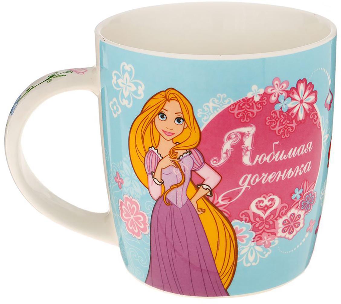 Кружка Disney Любимая доченька. Принцессы, 350 мл1200897Кружка с любимыми героями обязательно порадует малыша! Она яркая и волшебная, почти как лампа Алладина. Красочное изображение и дорогие сердцу персонажи будут радовать ребенка каждый день! С такой кружкой любой напиток станет в два раза вкуснее и желаннее. Благодаря яркой дизайнерской упаковке кружку можно подарить на любое важное событие в жизни малыша. Все материалы посуды безопасны для здоровья детей и взрослых. Соберите коллекцию лицензионной посуды с изображением любимых героев!