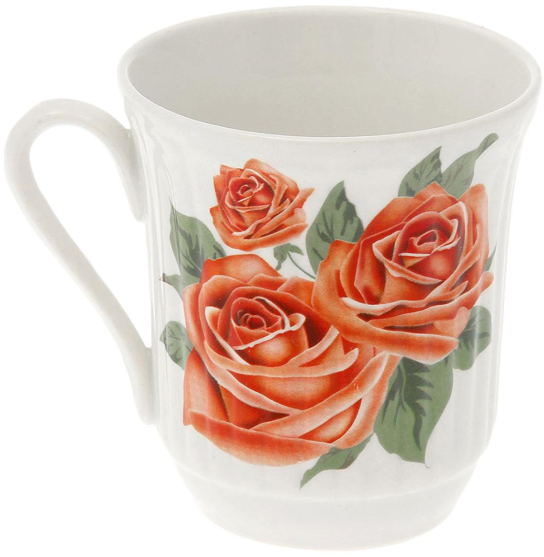 Кружка Керамика ручной работы Агата. Розы, 250 мл1528569Данная кружка выполнена из керамики. Изделие выдержит высокую и низкую температуру, надолго сохранит чай горячим, а остуженные напитки холодными. емкость не выделяет вредных веществ при сильном нагреве. Кружка долго сохраняет первоначальный внешний вид и подходит как для мытья вручную, так и в посудоечной машине. Интересное оформление украшает изделие и выделяет среди прочих. Окружайте себя красивыми вещами: такая чашка поднимет вам настроение даже в ненастный день!