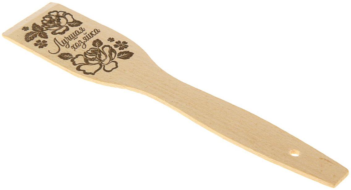Лопатка кулинарная Sima-Land Лучшая хозяйка цветы, 5 х 27,5 см1692654Деревянная лопатка придется по душе любой хозяйке! Изделие не царапает поверхностьсковороды, а оригинальный рисунок поднимает настроение. Лопатка выдерживает высокуютемпературу и при правильном уходе прослужит очень долго. Правила ухода за деревянной лопаткой: Не оставляйте изделие в воде на долгое время. Не оставляйте надолго лопатку в горячей посуде и не кладите вблизи открытого огня. Мойте ее мягкой губкой с добавлением чистящего средства, после этого ополаскивайте теплойводой и просушивайте. Промывайте лопатку горячей водой с уксусом 1 раз в месяц. Таким образом можно предотвратитьвпитывание посторонних запахов.