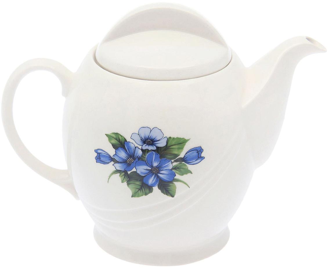 Чайник заварочный Sima-Land Экспресс, 1 л1764894Такой заварочный чайник раскроет весь вкус и аромат напитка. Он долго сохраняет тепло, прост в уходе и не выделяет токсичных веществ. А еще керамика — это пористый материал, поэтому напиток обогащается кислородом и становится более богатым на вкус. Чайник равномерно распределяет тепло на всей поверхности сосуда, поэтому подходит для чая с длительным завариванием. Пусть посиделки станут более душевными!