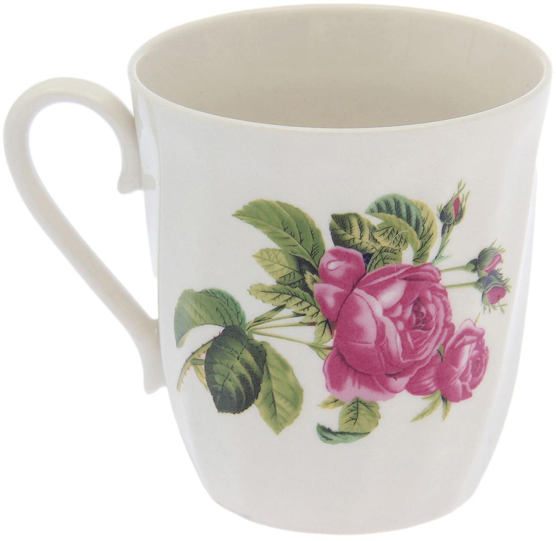 """Кружка """"Волна. Роза Кавказа"""" выполнена из керамики. Изделие выдержит высокую и низкую температуру, надолго сохранит чай горячим, а остуженные напитки холодными. Емкость не выделяет вредных веществ при сильном нагреве. Кружка долго сохраняет первоначальный внешний вид и подходит как для мытья вручную, так и в посудомоечной машине. Интересное оформление украшает изделие и выделяет среди прочих. Окружайте себя красивыми вещами: такая чашка поднимет вам настроение даже в ненастный день!"""