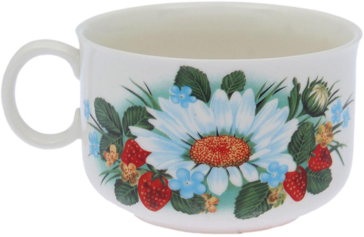 Чашка Керамика ручной работы Лето. Лесная деколь, 250 мл