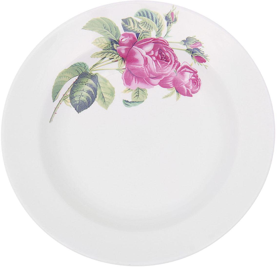 Тарелка глубокая Керамика ручной работы. Роза Кавказа, диаметр 20 см1821324Данная тарелка понравится любителям вкусной и полезной домашней пищи. Такая посуда практична и красива, в ней можно хранить и подавать разнообразные блюда. При многократном использовании изделие сохранит свой вид и выдержит мытье в посудомоечной машине. В керамической емкости горячая пища долго сохраняет свое тепло, остуженные блюда остаются прохладными. Изделие не выделяет вредных веществ при нагревании и длительном хранении за счет экологичности материала.