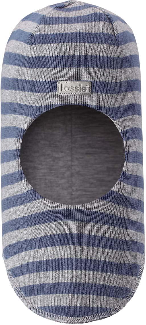 Шапка-шлем детская Lassie, цвет: серый. 7187439010. Размер 54/56