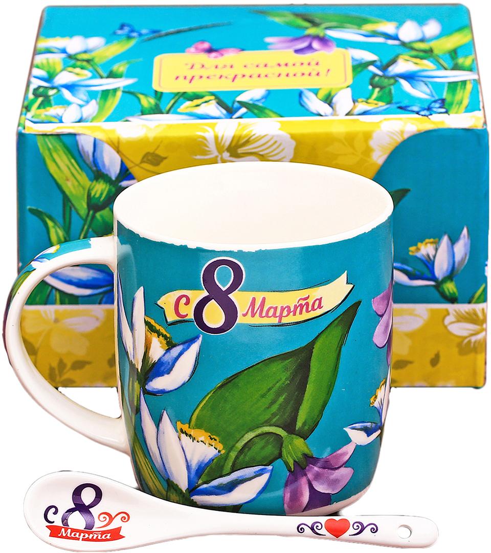 Кружка Sima-Land С 8 Марта!, 300 мл2357351Аккуратная керамическая ложечка, которая входит в комплект, позволит совмещать чаепитие с наслаждением от вкусного десерта, в любое время и в любом месте. Набор дополнен яркой подарочной упаковкой.