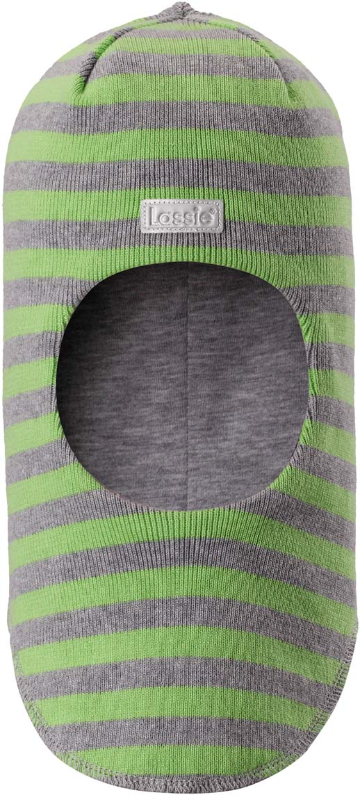Шапка-шлем детская Lassie, цвет: зеленый, серый. 7187438270. Размер 54/56