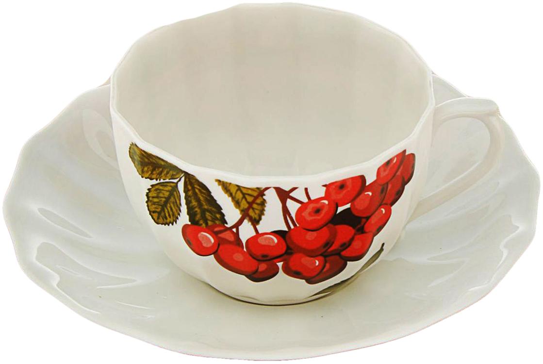 Чайная пара Sima-Land Рябинка, 2 предмета, 200 мл