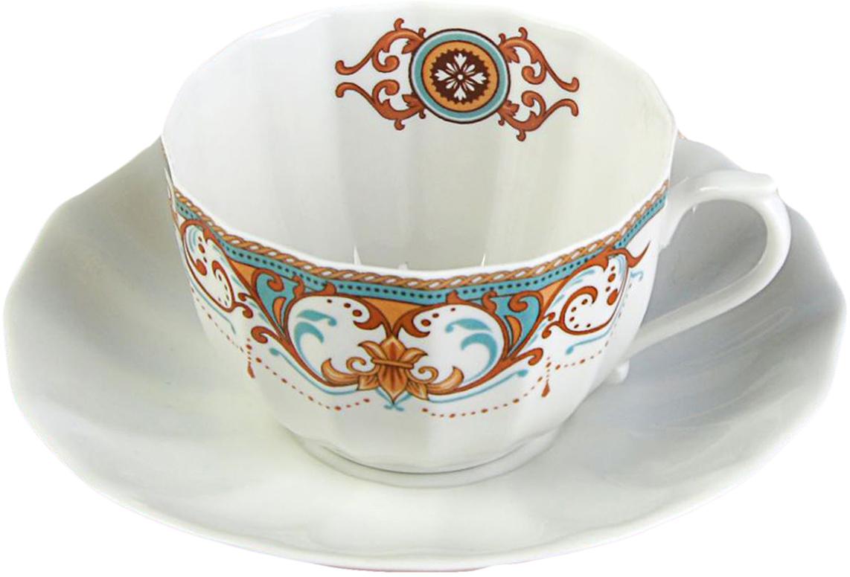 Чайная пара Sima-Land Вензеля , 200 мл2448891Яркий, неповторимый набор создан, чтобы моментально поднимать настроение и дарить радость. А любой напиток станет вкуснее, если пить его из такой посуды. Комплект с благородным дизайном изготовлен из фарфора. Это отличный подарок, который придется по душе всем любителям чая или кофе.