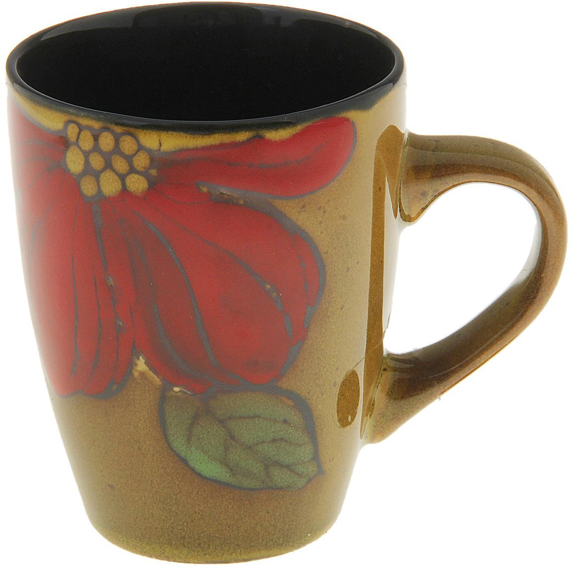 Кружка Командор Муран. Цветок, цвет желтый, 320 мл698217Роскошная коллекция посуды Муран создана для истинных эстетов. Изящные керамические формы украшены цветочными мотивами в приглушенной цветовой гамме. Функциональные предметы в стильном обрамлении станут вашими фаворитами на посудной полке и будут служить гармоничным украшением обеденного или рабочего стола. В каталоге нашего интернет-магазина представлен невероятный выбор кружек разных форм и расцветок по выгодным ценам. Закажите понравившееся изделие прямо сейчас и станьте обладателем верного помощника на долгие годы.